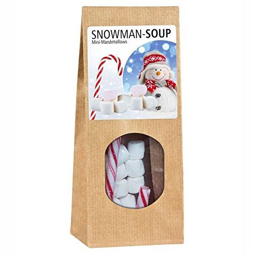 Snowman Soup Geschenktüte - Marshmellows und eine Zuckerstange zum Kakao genießen – Winterzeit Weihnachten Geschenk Kinder Geschenkidee Nikolausgeschenk Adventskalender Füllung Wichtelgeschenk