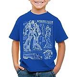 A.N.T. Optimus Prime T-Shirt für Kinder blaupause autobot, Farbe:Blau;Größe:104