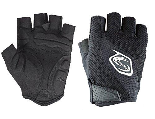 Seibertron Manner/Frauen Half Finger/Finger Radfahren MTB Handschuhe Rennrad Fahrrad-Handschuhe Radfahren Handschuhe Gel Pad Reithandschuhe Schwarz XS (Fahrrad-handschuhe)