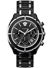 Versace 16CCS9D009 SC09 - Reloj cronógrafo automático unisex, correa de cerámica color negro