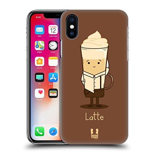 Head Case Designs Espresso Personalità Del Caffè Cover Retro Rigida per Apple iPhone X Latte