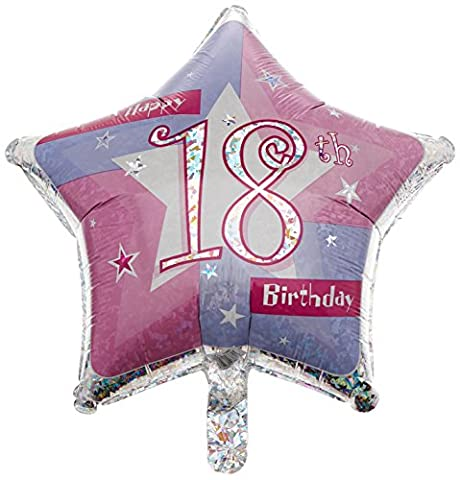 Amscan International Rosa Schimmernd 19Happy 18. Geburtstag Folie Ballon