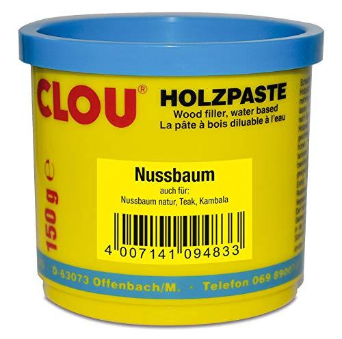 Clou Holzpaste Zum Reparieren Und Auskitten Von Holzschäden Nussbaum, 150  G: Holz Spachtelmasse Zum