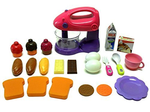 Toy Century Toy Kitchen 22 Piece Set 1 Motorized Mixer 21 Play Food & Accessory Items