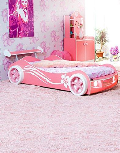 Rosa Auto Bett Schlafzimmer für Kinder Mädchen Fotografie Kulissen Foto Props Studio Hintergrund 5x7ft