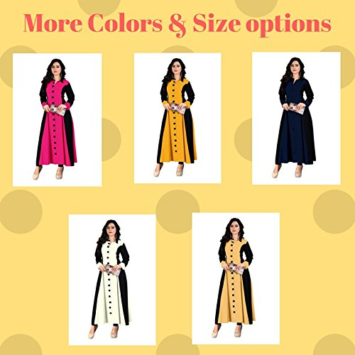 BEST party wear Women's Designer kurti - COMFORTABLE Princess cut stitched Long rayon kurta - Designer stylish and readymade partywear dress for women