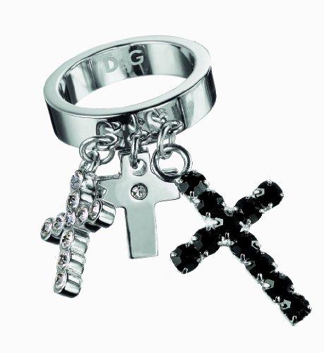 D G Dolce Gabbana & & Crossroad DJ0030-Anello da donna in acciaio INOX, misura 44/F