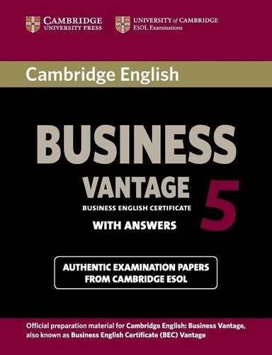 Cambridge English business vantage Level 5. Student's book with answers. Esol