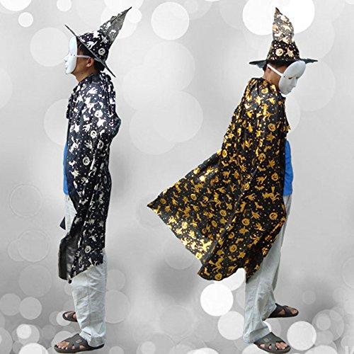 schmuck, textilien, bekleidung, umhang umhang erwachsenen hexe zauberer persönlich. (Silber) (Engel Des Todes Kostüme)