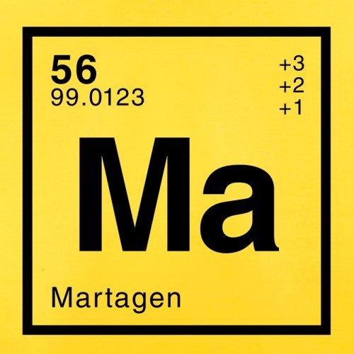 Marta Periodensystem - Herren T-Shirt - 13 Farben Gelb