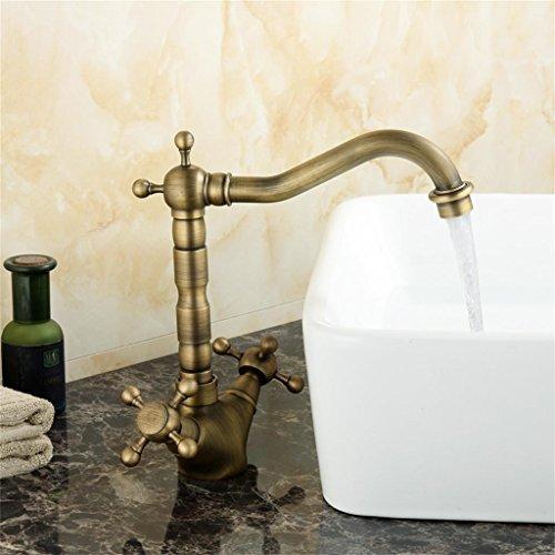 SONGSH Alle Kupfer antiken europäischen Garten Stil Plattform Becken Waschtischarmaturen Küche Toilettenartikel Wasserhahn -