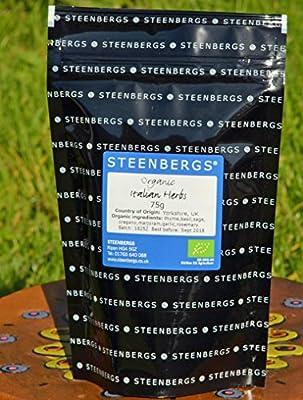Organic Italian Herbs Refill Baby Bulk 75g from Steenbergs