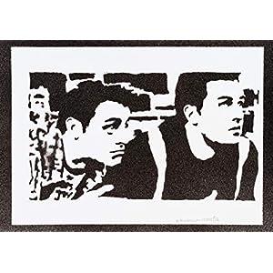 Friends Chandler und Joey Poster Plakat Handmade Graffiti Street Art - Artwork