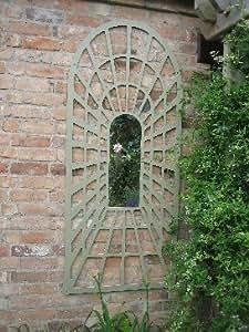 Miroir arche treillis grande perspective jardin for Piscine miroir en anglais
