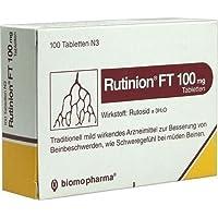 Rutinion FT 100mg Spar-Set 3x100Tabletten. Traditionell mild wirkendes Arzneimittel zur Besserung von Beinbeschwerden... preisvergleich bei billige-tabletten.eu