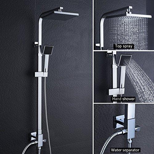 Duschsäule ohne Wasserhahn Regendusche Duscharmatur Duschkopf