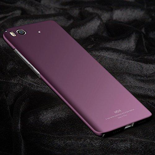 Xiaomi Mi 5s Hülle, MSVII® Sehr Dünn Hülle Schutzhülle Case Und Displayschutzfolie für Xiaomi Mi 5s - Rot / RED JY00292 Lila