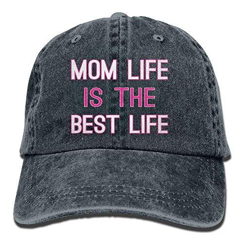 Osmykqe Mom Life is The Best Life Denim Hat Adjustable Men's Plain Baseball Caps Y020042 -