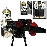 Custom Brick Design 87th Star Corps Legion E-Web Gunner Clone Trooper Figur - modifizierte Minifigur des bekannten Klemmbausteinherstellers und somit voll kompatibel zu Lego