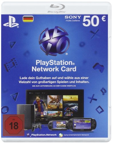 PlayStation Network Card 50 € [Guthabenkarte für deutsches PSN-Konto]