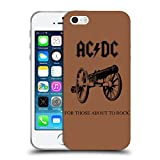 Ufficiale AC/DC ACDC For Those About To Rock Copertina Album Cover Morbida In Gel Per Apple iPhone 5 / 5s / SE