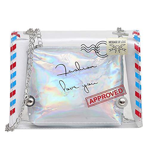 rbeitstasche Schultertasche Messenger Bag Retro Elegant Damen Handtaschen Shopper Bags Einkaufstasche(Silber-02) ()