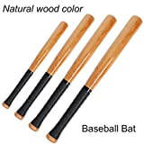 Latinaric Natural Wood Baseball Bat Sport Slugger Wooden Bat Self Defense Rounder Bat 33 Inch / 84 cm