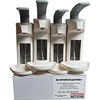 4 Sanawelt® - Desinfektionsspender für 500 ml Flaschen - mit Abtropfschale preisvergleich bei billige-tabletten.eu