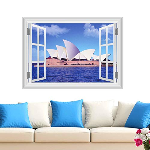Landschafts-Wandabziehbilder des Fenster-Australien-3D Wandgemälde-Kunst-Diy-Plakate