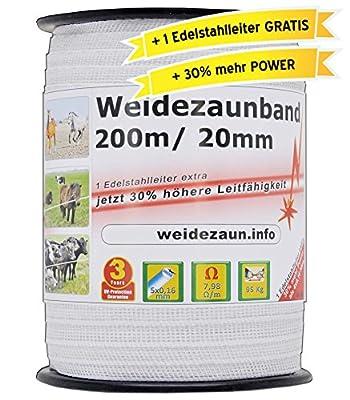 NEU: 30% mehr Leitfähigkeit - Doppelpack - insgesamt 400 Meter Weidezaunband inkl. Zubehör - Elektrozaun Sparpack von Voss.farming auf Du und dein Garten