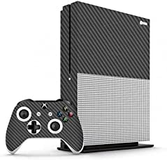 GADGETS WRAP Xbox One S Grey Carbon Skin for Console & Controller