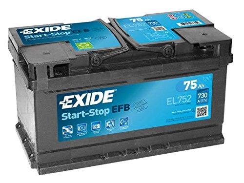 BATTERIA START&STOP EXIDE 75 AH 730 (EN) EL752