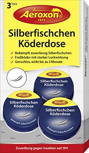falle silberfische Aeroxon - Silberfisch Köderdose - 3er Pack