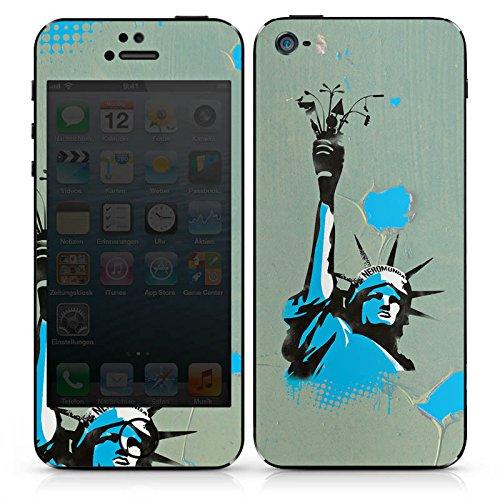 Apple iPhone 5c Case Skin Sticker aus Vinyl-Folie Aufkleber New York Freiheitsstatue Amerika DesignSkins® glänzend