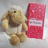 Geschenk Für Männer - Schäfchen mit Plüschherz und Schokolade