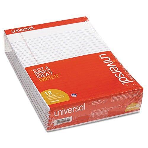 Universale UNV20630 perforati EDGE-Blocco note a righe, LEGAL, lettera, colore: bianco, 50 fogli, 12 x universale