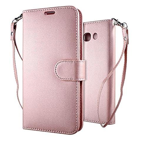 Coque Galaxy J5 2016 Étui Bookstyle Pink , Leathlux Motif
