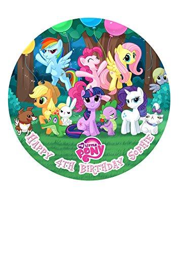My Little Pony Party Personalisierte Kuchen Topper Puderzucker Papier 19,1cm Bild M5