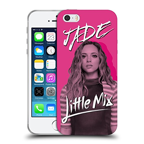 Offizielle Little Mix Herz LM Muster Kunst Soft Gel Hülle für Apple iPhone 5 / 5s / SE Kalender Jade