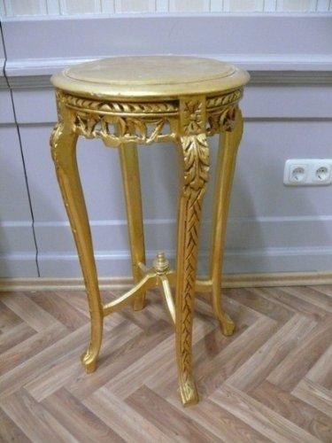 LouisXV Beistelltisch Tisch rund Antik Stil Barock AlTa0332GoFS antik Stil Massivholz. Replizierte...