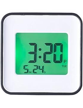 infactory Digitaler Wecker: LCD-Wecker, zwei Weckzeiten, Programmierung per iOS & Android App (Wecker mit Alarm-Funktion)