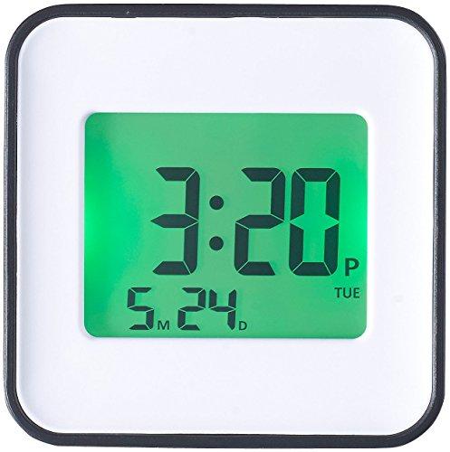 infactory Uhrenwecker: LCD-Wecker, Zwei Weckzeiten, Programmierung per iOS & Android App (Weckuhr)