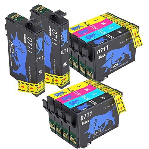 AiMoMo Compatibile Cartucce Epson T0711-T0714 Sostituzione per inchiostro Epson Stylus BX300F DX6000 SX110 SX410 SX210 SX100 SX400 DX4400 4 Nero,2 Ciano,2 Magenta,2 Giallo