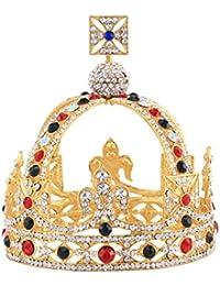 Corona vintage Sanfte para novia, diseño vintage, con diamantes de imitación