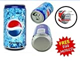 Soft Drink Pepsi Cola Beer Can Shape Mp3 Audio Songs Fm Radio Multimedia Speaker with free stainless steel egg mould inside gift..