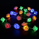 Beautiful Rose Flower Decorative String Light for your Dreamlike LifeShape Design: Romantic Rose Flower string lightsWire Color: TransparentRose Color: pure whiteQuantity of LED Balls: 20 piecesPower source: 3 x AA battery(Not Included)Total Length: ...