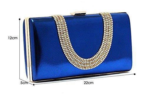 borse da sera con strass/Air frizione/Di alta qualità per banchetti/sacchetto della sposa della moda/Diamante borsa a mano femminile-D D