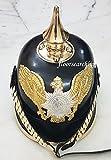 Deutschen Preußische Leder Helm–Officer Imperial Pickelhaube Helm Replica