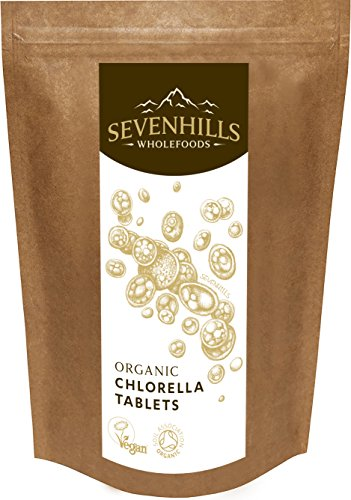 Sevenhills Wholefoods Organic Chlorella Broken Cell Wall 500mg Tablets Pack of 1000, 500g Test