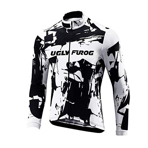 endura trikot Uglyfrog 2018 Winter Jersey Thermisches Herren Fahrradbekleidung Thermo Trikot Langarm Radfahren Jersey Lange Hülsen Fahrradtrikot